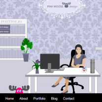 Pink Moose (2013) - a playful website for a UX professional
